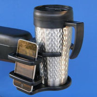 Power Wheelchair Combination Cell Phone / Adjustable Drink Holder | A0015A - wheelchairstrap.com