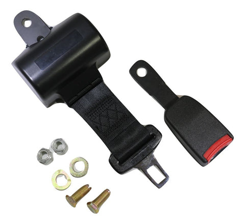 Black Retractable Forklift Replacement Seatbelt w/ Hardware - ratchetstrap-com.myshopify.com