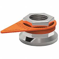 High Heat Loose Wheel Nut Indicator, 33mm, Orange - QTY 10