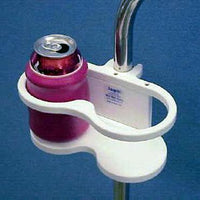 Permanently Mounted Double Drink Holder | M002