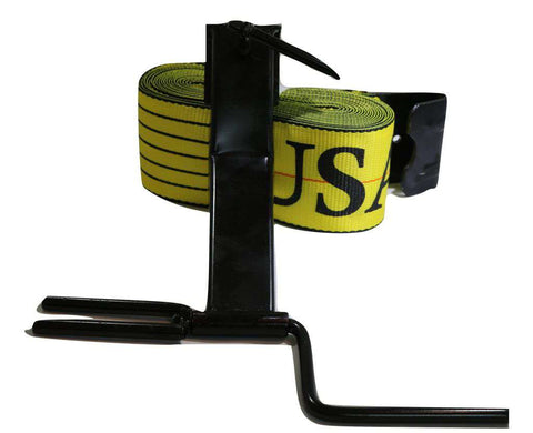 Qty 1 - Portable Strap Belt Winder + 4 X 30 Ft. Flat Hook Combination Kit Free Shipping Flatbed