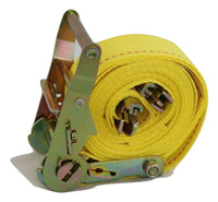 "Qty 8 - 2"" x 12 ft. Interior Van Ratchet E-Track Straps w/ Spring E Fittings - RatchetStrap.com"