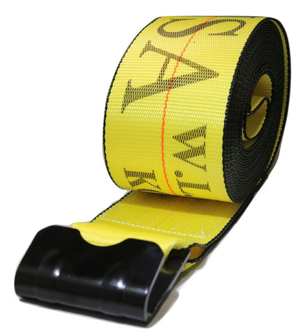 Qty (10) 4 X 30 Ft Winch Straps W/ Flat Hooks Flatbed