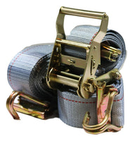 "QTY (2) 2"" x 16 ft. Van Ratchet Straps Logistic E-Track w/ Spring E Fittings & Wire J Hooks"