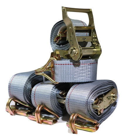 "Qty (4) 2""x16ft Ratchet Strap w/ Spg E & Wire J for E & F-Tracks - ratchetstrap-com.myshopify.com"