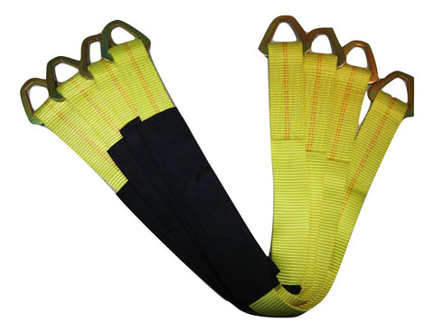 "Qty 4 - 36"" Axle Straps Auto Car Hauler Tie Downs Tow Wrecker, Yellow - ratchetstrap-com.myshopify.com"