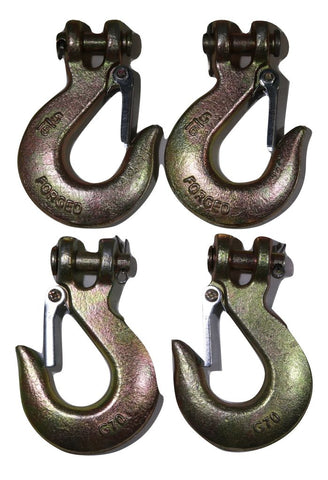 Qty 4 Clevis Slip Hook 5/16 With Latch - Grade 70 Hardware