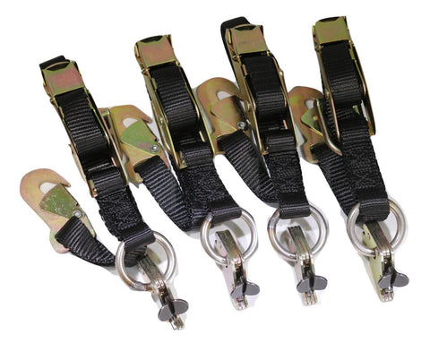 Qty 4 Manual Overcenter Buckle Strap w/ Snap Hook, Fits A-Track (Contact Us for L-Track) - ratchetstrap-com.myshopify.com