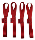 "Qty 4 of Soft Tie Loops 12"" Length / RED - ratchetstrap-com.myshopify.com"