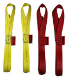 Qty 4 Of Soft Tie Loops 12 Length / Red & Yellow Motorcycle