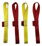 "Qty 4 of Soft Tie Loops 12"" Length / RED & YELLOW - ratchetstrap-com.myshopify.com"