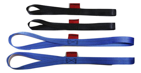 "Soft Tie Loops (2) 12"" Length & (2) 18"" Cargo Tie-Down Straps - RatchetStrap.com"