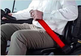 Red Retractable Forklift Replacement Seatbelt w/ Hardware - ratchetstrap-com.myshopify.com