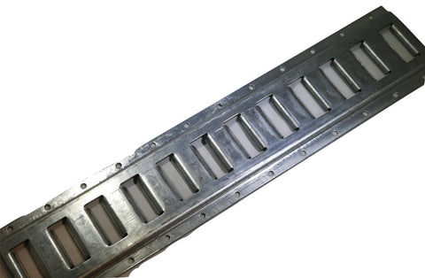 Series E Horizontal Logistic Track - Zinc Galvanized 2 Ft. Section Interior Van