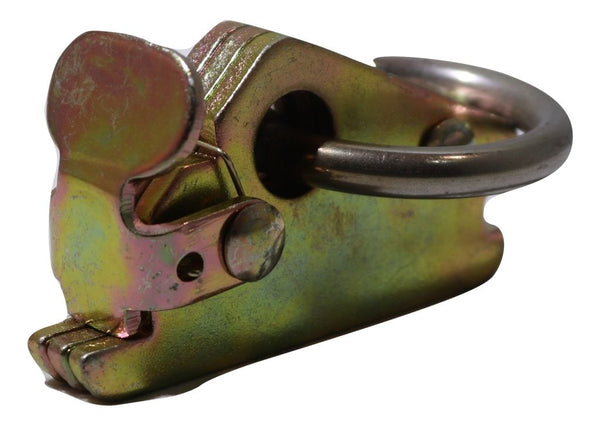 Series E-Track or A-Track Heavy Duty Spring Fitting w/ Stainless Round Ring - RatchetStrap.com