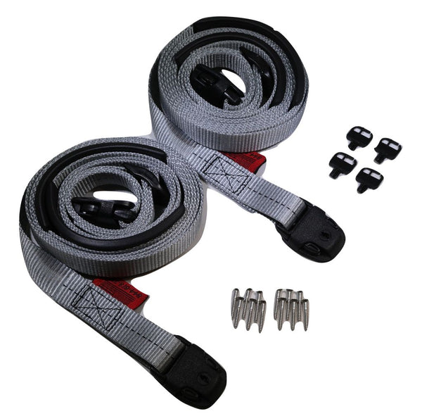 Spa Cover Hot Tub Wind Securement Strap Complete Kit Nexus Locks Grey - ratchetstrap-com.myshopify.com