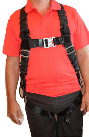 Ultra Pillow-Flex Harness Quick Release 3 D-Rings & Padded Leg Straps Fall Protection