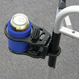 Combination Cell Phone/ Drink Holder For Mobility Products | W0014 - wheelchairstrap.com