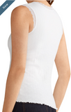 Rib Top-White Medium