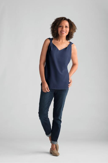 Twisted Top-Blue