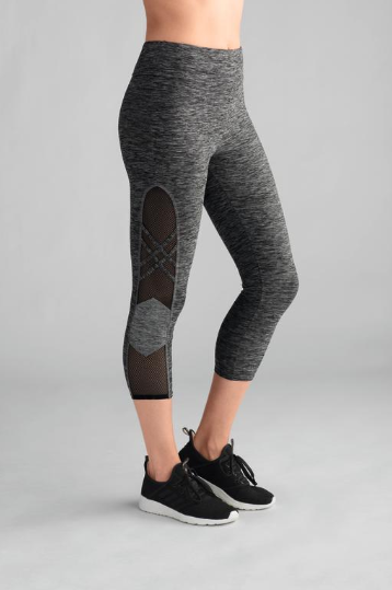 Sports Capri-Grey Melange