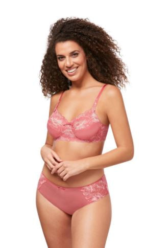 Floral Chic Underwire-Strawberry/Rose