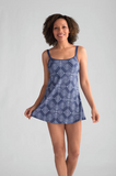 Macau Swimdress-Marlin Blue/White