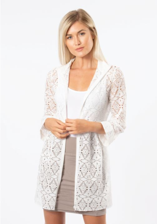 Wild Tropics Mesh Zip Coverup-2 Colours