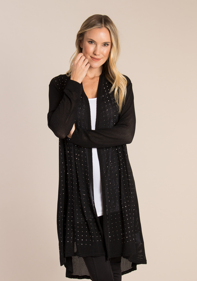 Studded Open Knit Cardigan (3 Colours)
