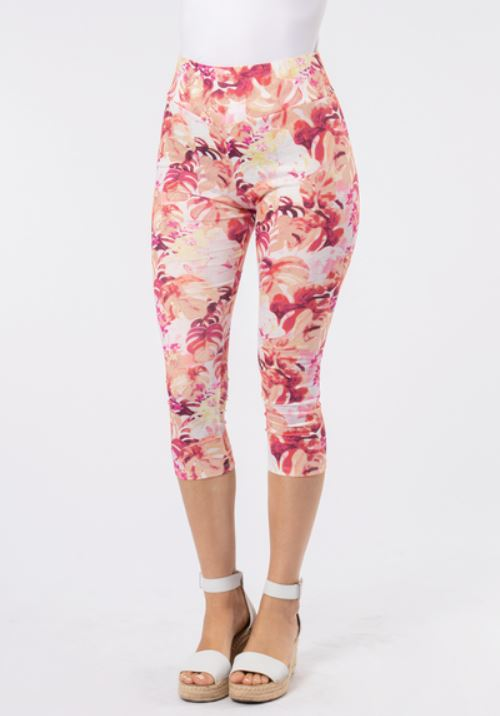Paradise Printed Cropped Leggings-2 Colours