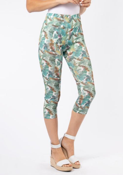 Island Breeze Cropped Leggings-2 Colours