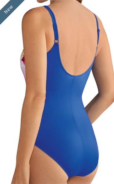 Tinos One-Piece-Royal Blue Floral