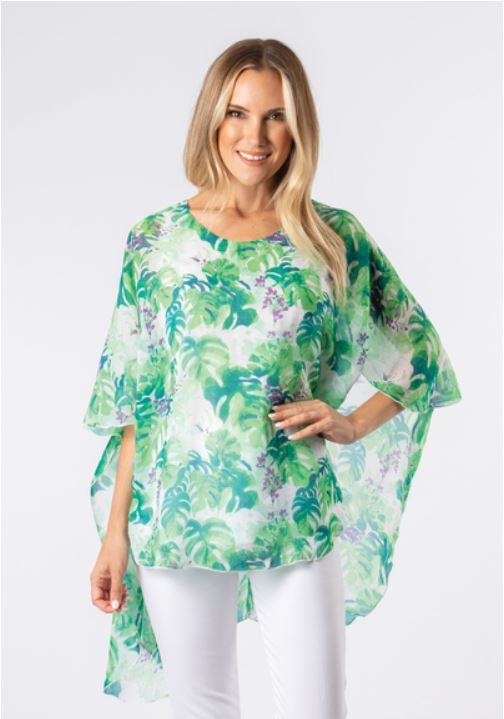 Paradise Flutter Sleeve Top-2 Colours