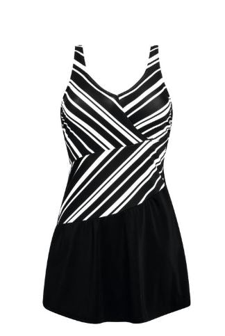 Andalusia Swimdress-Black/White