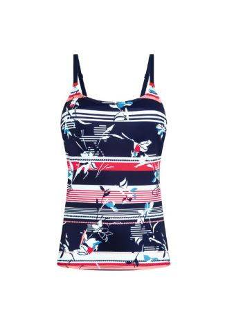 Capri Tankini SET-Dark Blue/Multi