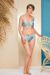 California Underwire Bikini-Yellow/Aqua