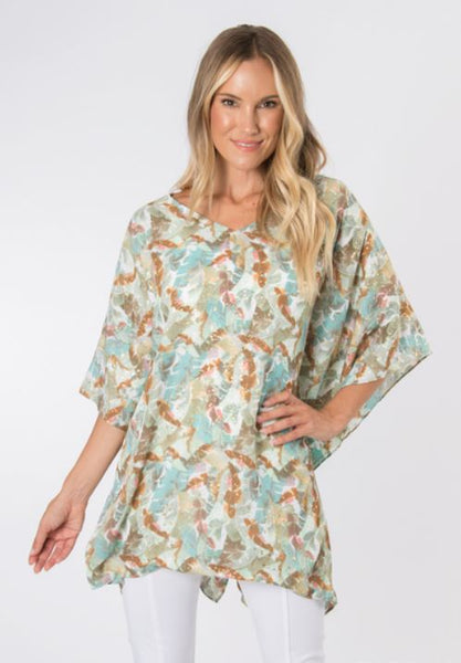 Island Breeze Gold Foil Tunic-2 Prints