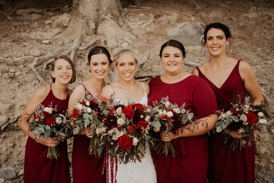 Jewel Toned Bridesmaids Bouquets