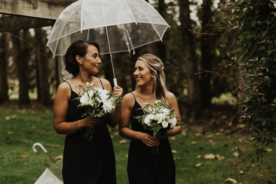Timeless Bridesmaid Bouquets in whites & greens
