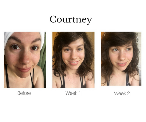 courtneys before, week 1 and week 2