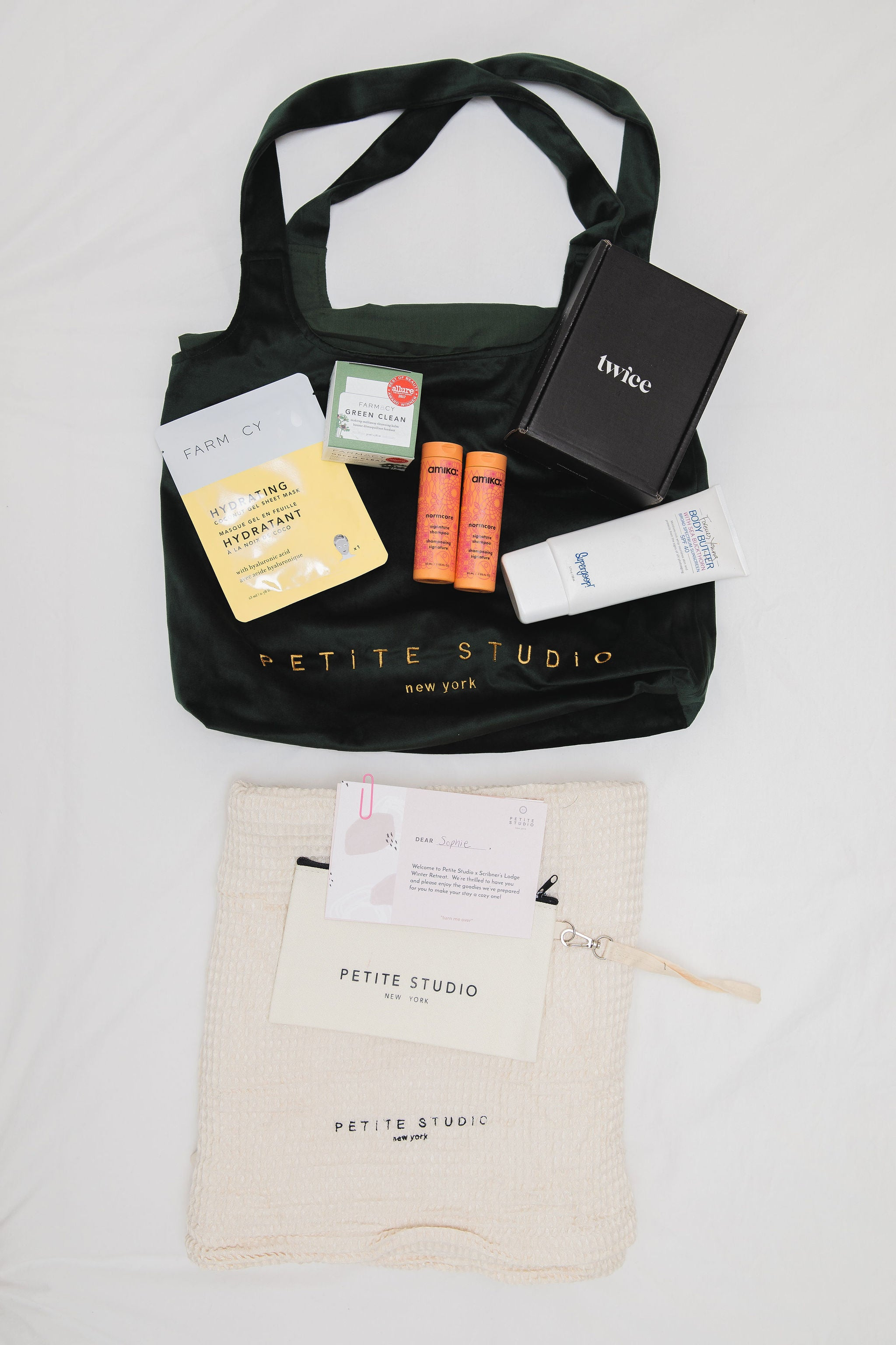 Petite Studio Winter Retreat Goodie Bag
