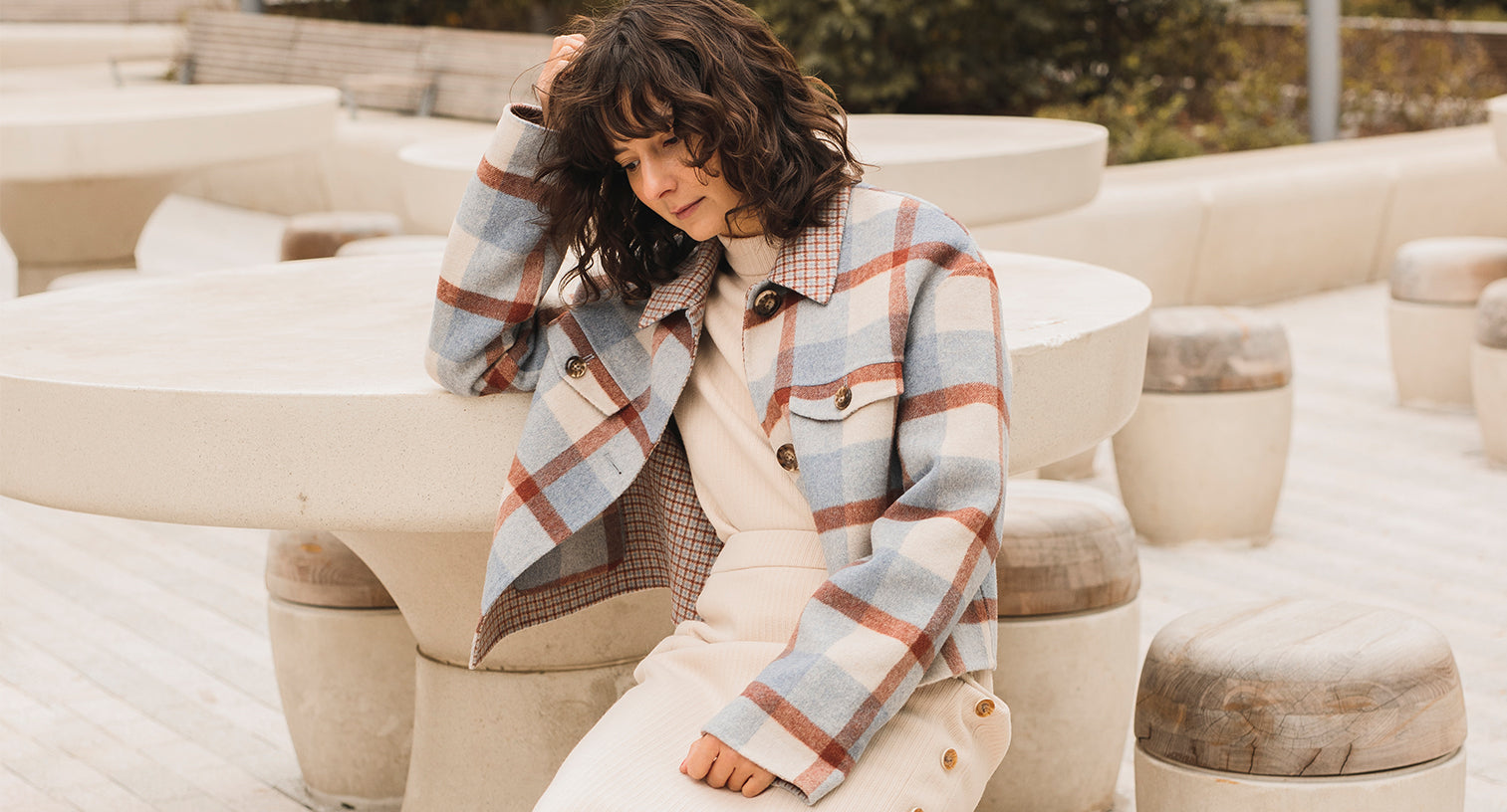 Bennet Wool Plaid Jacket - Petite Studio NYC