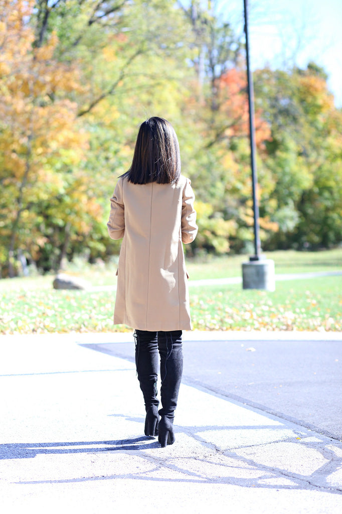 sydneysfashiondiary | Petite Studio NYC - camel top coat