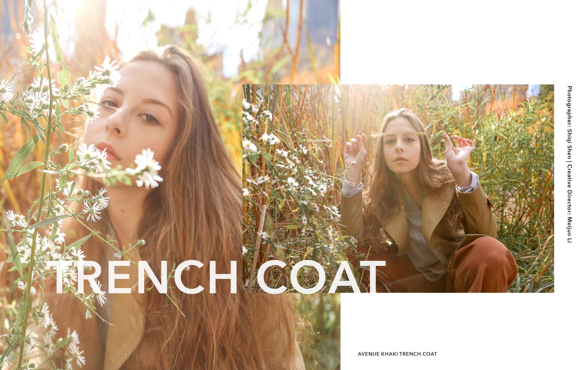 Petite Studio | Nov'16 LookBook | AVENUE KHAKI TRENCH COAT