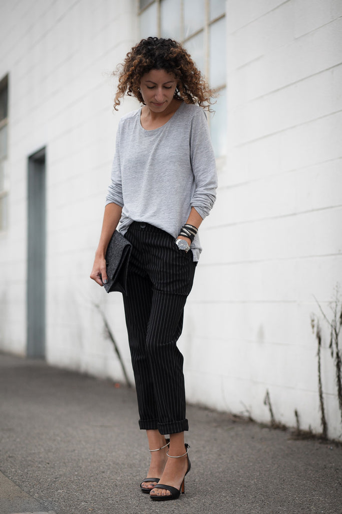 Alterations Needed - Petite Studio Pinstripe Pants