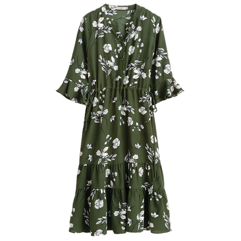 Eggcanvas in Celina Dress Green Floral