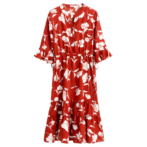 Celina Dress - Red Floral