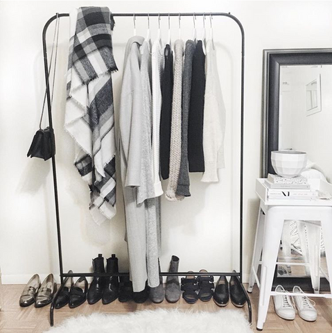 Lauren Caruso's wardrobe is filled with neutral clothing for petite girls