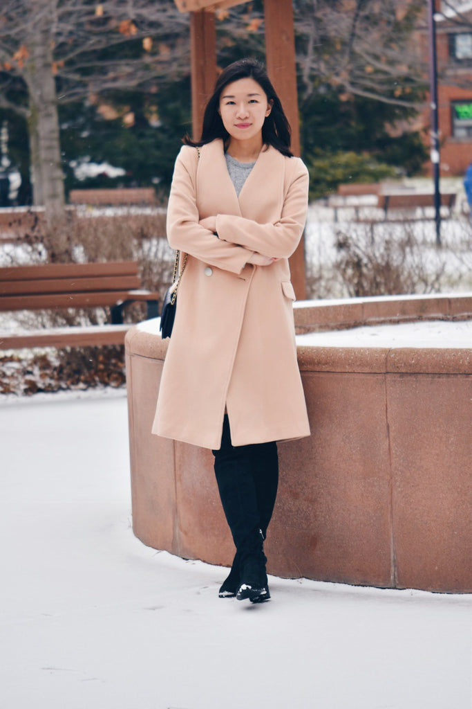 Petite Studio NYC -Staten Light Tan Coat
