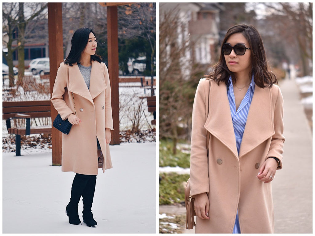 Petite Studio NYC - Staten Light Tan Coat2